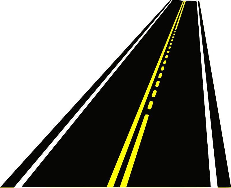 Drawn roadway vector Road Roads  For Clipart
