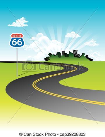 Curve clipart route Concept csp39208803 Curve  vector