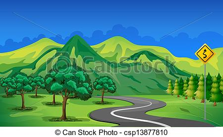Curve clipart route Mountain Vector A  the