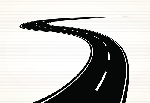 Curve clipart windy road #6