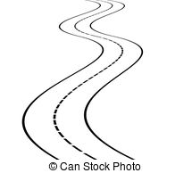 Curve clipart zigzag road Of  of illustration Clipart