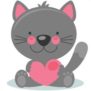 KITTENS clipart valentine's day Clipart scrapbooking scrapbook files cutting