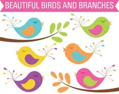 Bird clipart baby shower Cute Blue Clip Art Use