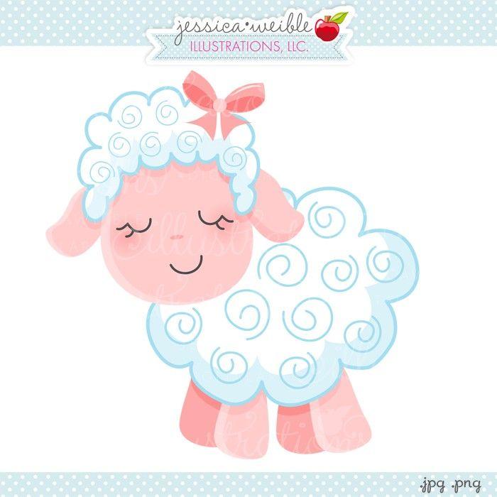 Sheep clipart pink sheep #1