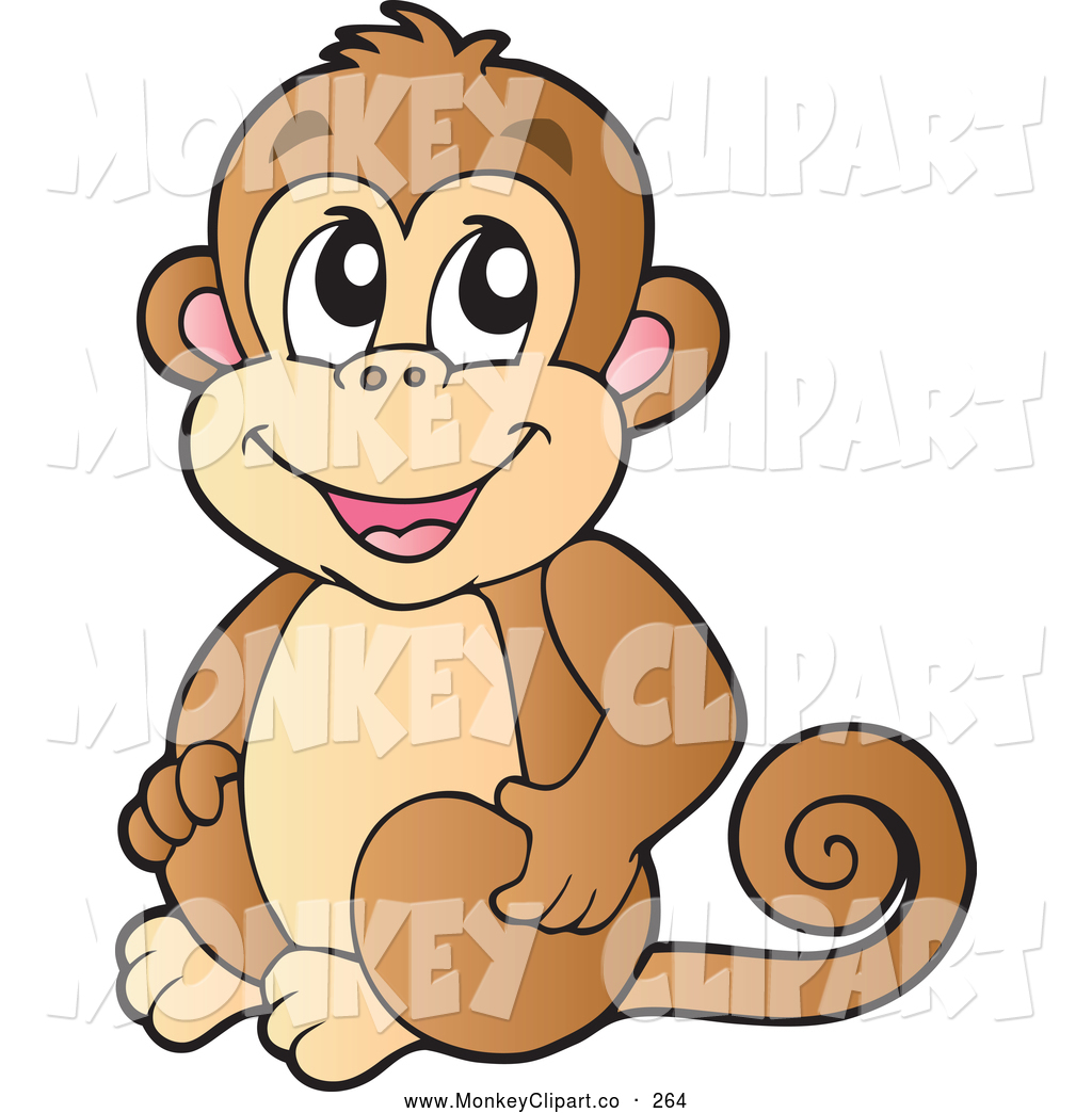 Baboon clipart brown monkey Visekart a Clip of Brown