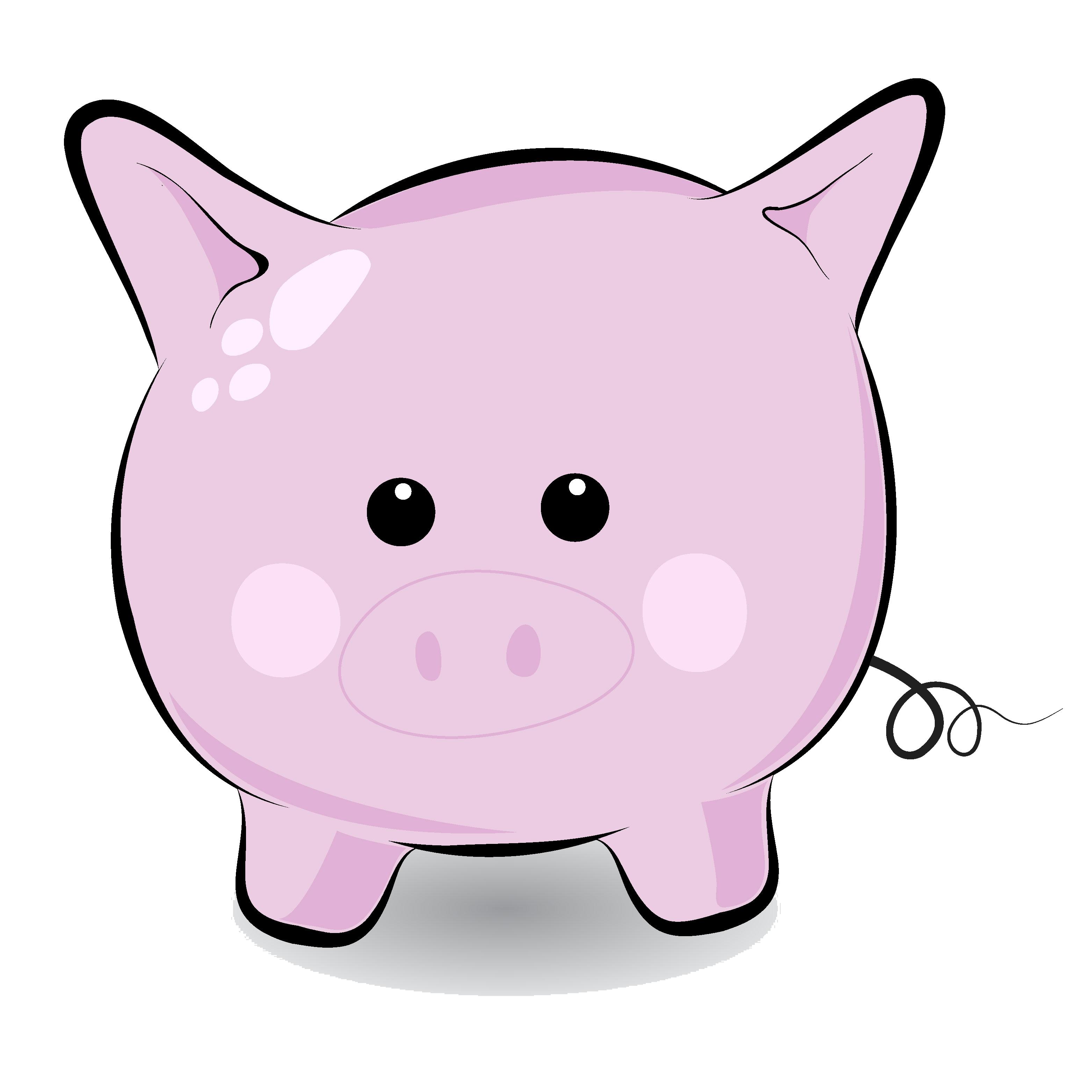 Pig clipart cute pig Free Clip Black Art Download
