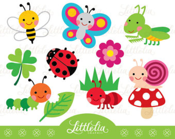 Bug clipart cute Bugs digital Instant download 14037