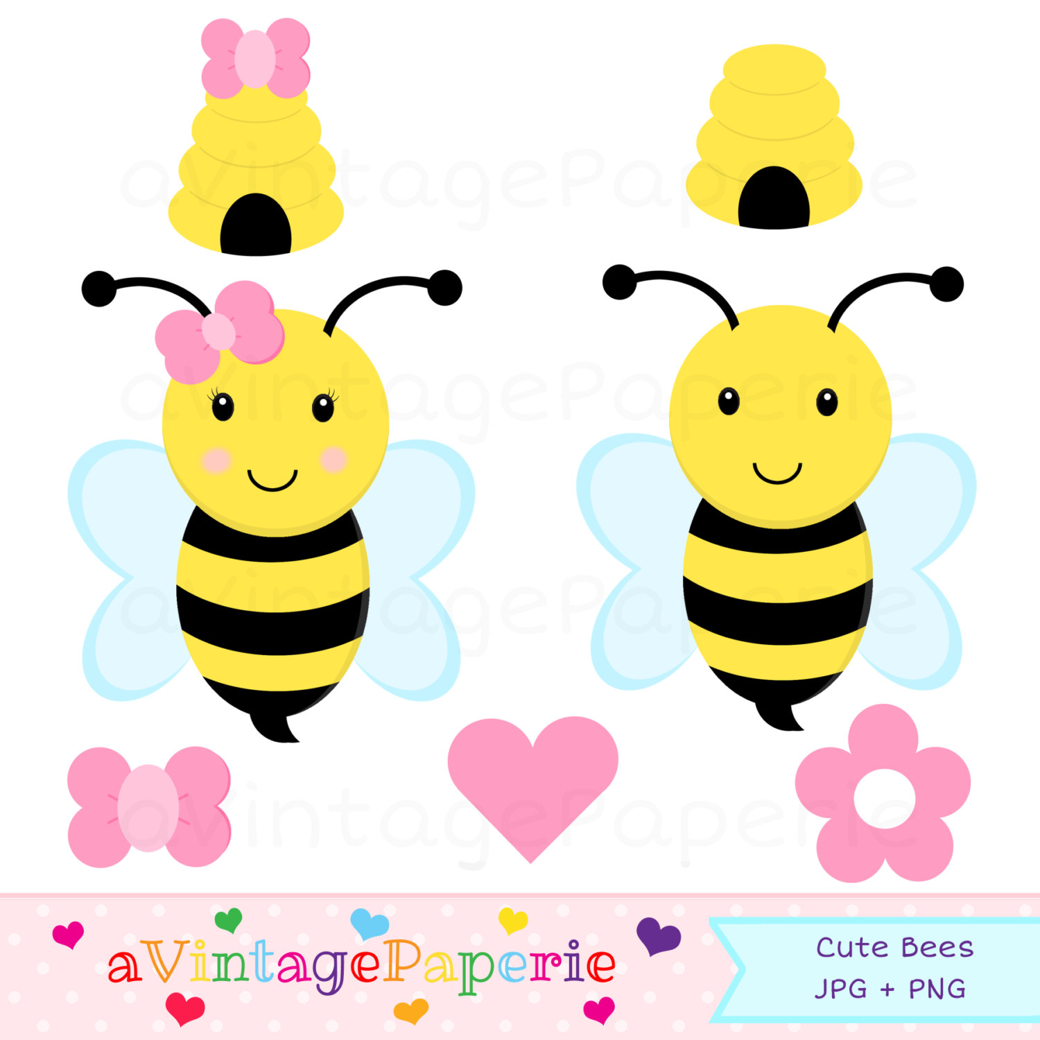 Bee Hive clipart bumblebee Instant art Use clipart Bumble