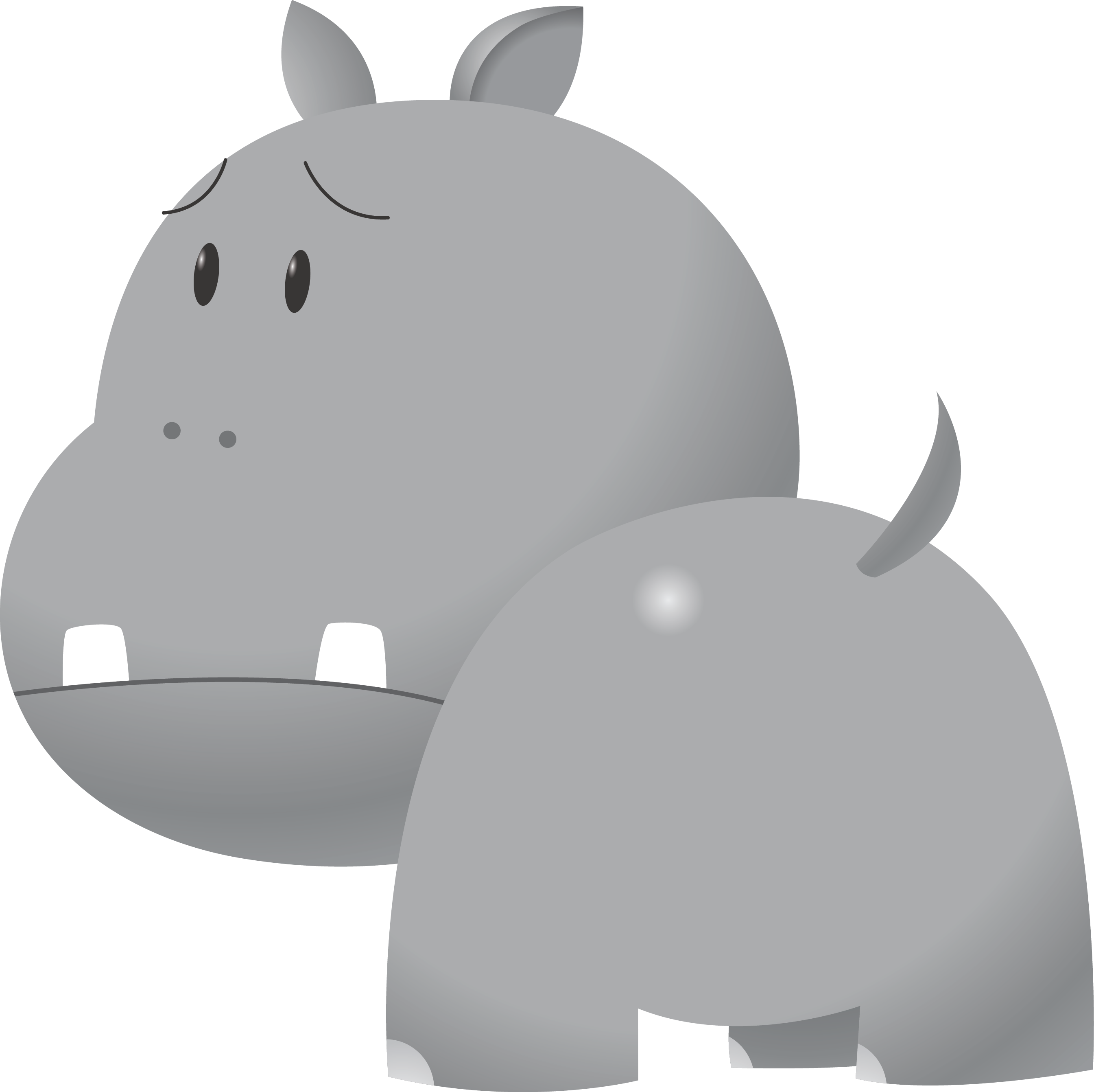 Adorable clipart baby hippo Hippo Domain Hippopotamus Art Clip