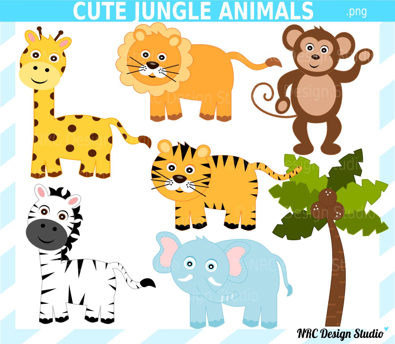 Zebra clipart jungle animal Cute animals jungle art Cute