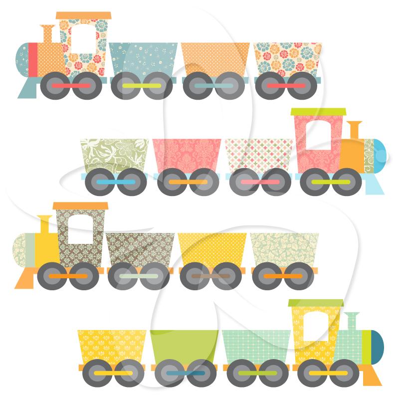 Train clipart cute #7