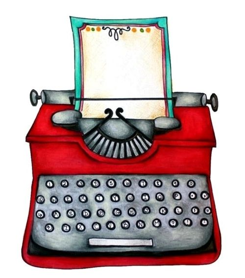Typewriter clipart red Best images 536 Typewriters illustrations