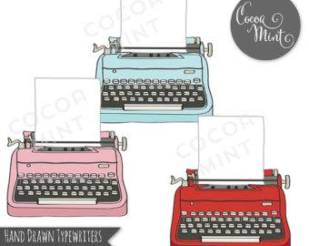 Drawn typewriter cute #11