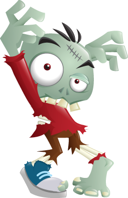 Zombie clipart silly Halloween of Larger for Halloween