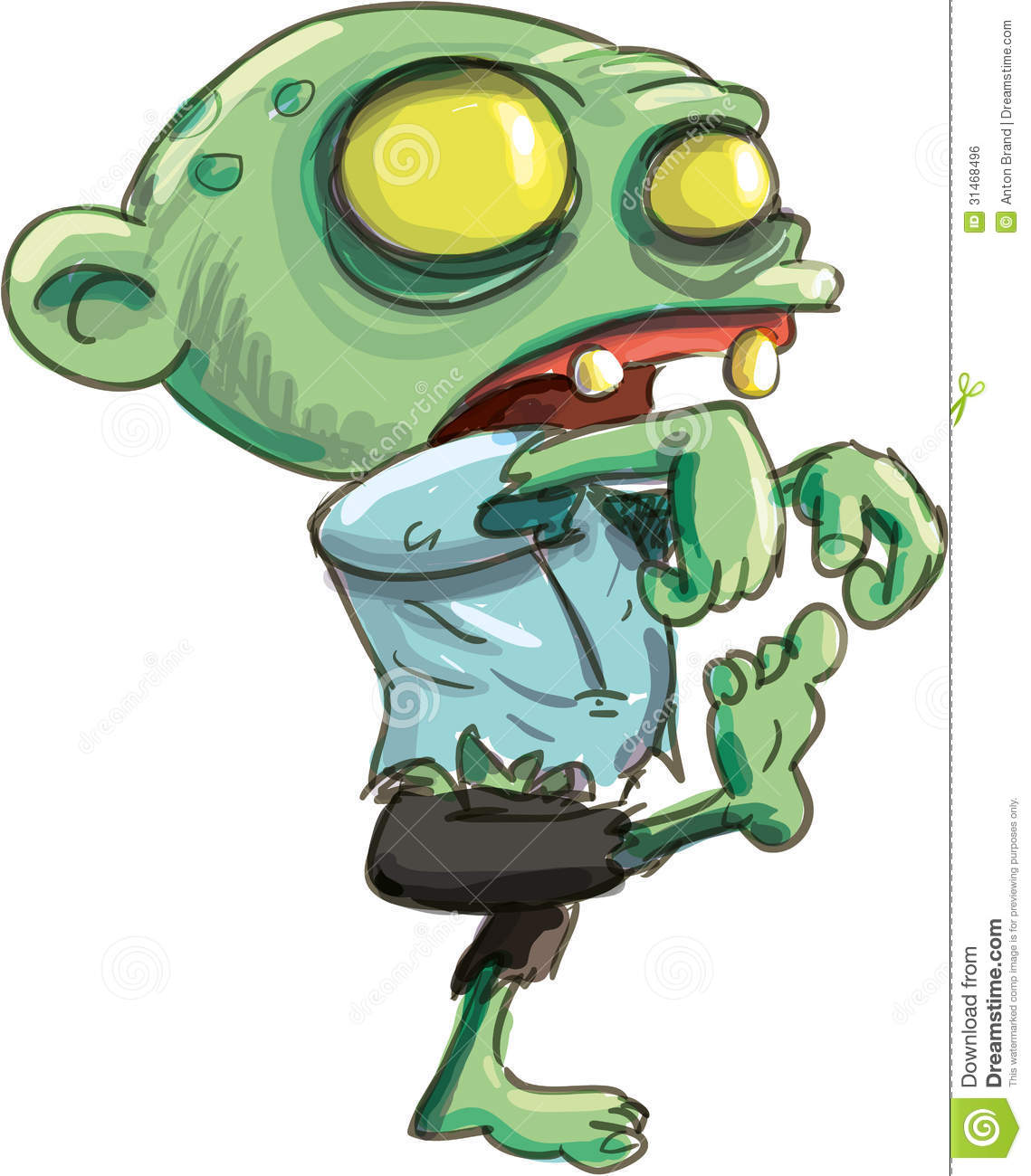 Zombie clipart green Cute of of zombie cute