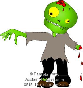 Zombie clipart cute A Clip Art Cute of