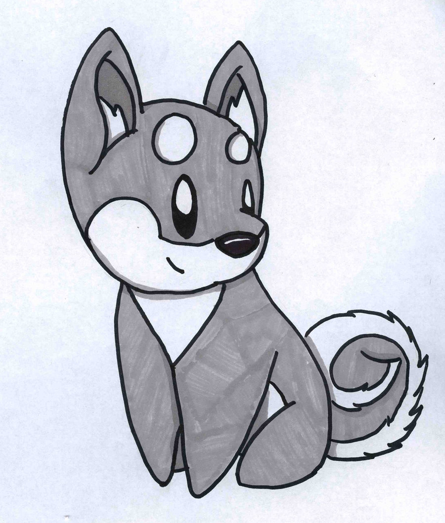 Drawn husky adorable Dog By Thing Drawings Clip