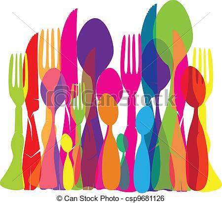 Cutlery clipart art Texture csp9681126 Texture Art Vector