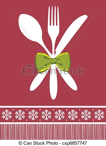 Cutlery clipart christmas Spoon and christmas christmas background