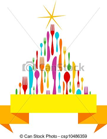 Cutlery clipart christmas Tree Cutlery csp10486359 of Christmas
