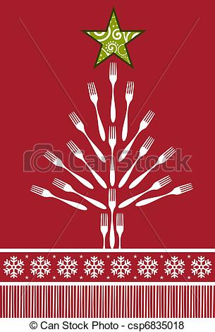 Cutlery clipart christmas Background Tree star Forks top