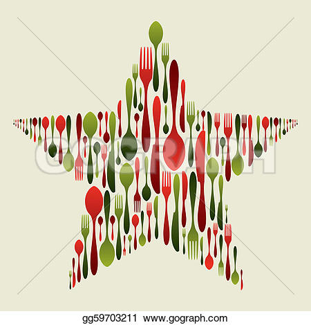 Cutlery clipart christmas 2 Free set star Cutlery