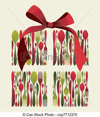 Cutlery clipart christmas Gift Cutlery Vector Christmas Gift