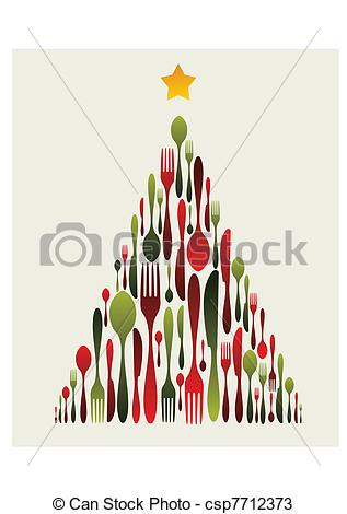 Cutlery clipart christmas Tree Fork Vectors Tree Cutlery