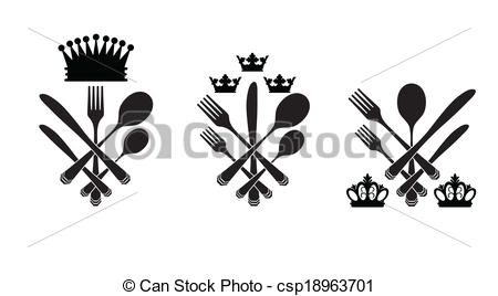 Cutlery clipart cutlery set Crowns of  cutlery with