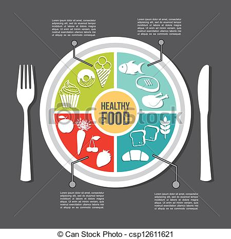 Cutlery clipart healthy food Vector food healthy Vector vintage