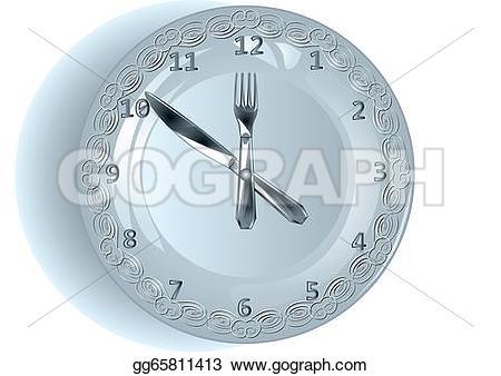 Cutlery clipart lunch The Art Art clock GoGraph