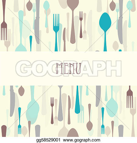 Cutlery clipart menu design With gg58529001  Drawing Drawing