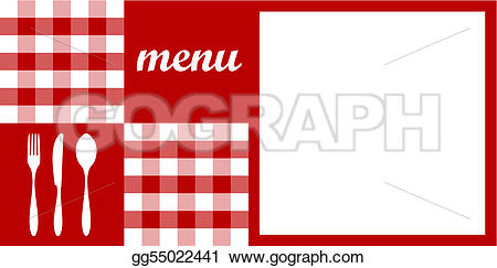 Cutlery clipart menu design  space vector available text