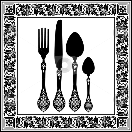 Cutlery clipart menu design With card cutlery vector cutlery