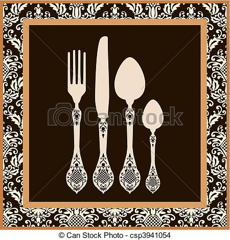 Cutlery clipart menu design Vector of card Menu design