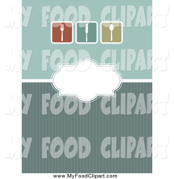 Cutlery clipart menu design Art Menu Design Green with