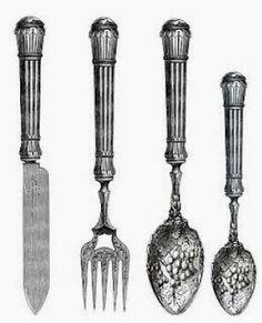 Cutlery clipart old Fashioned vintage clip MUTFAK DEKUPAJ