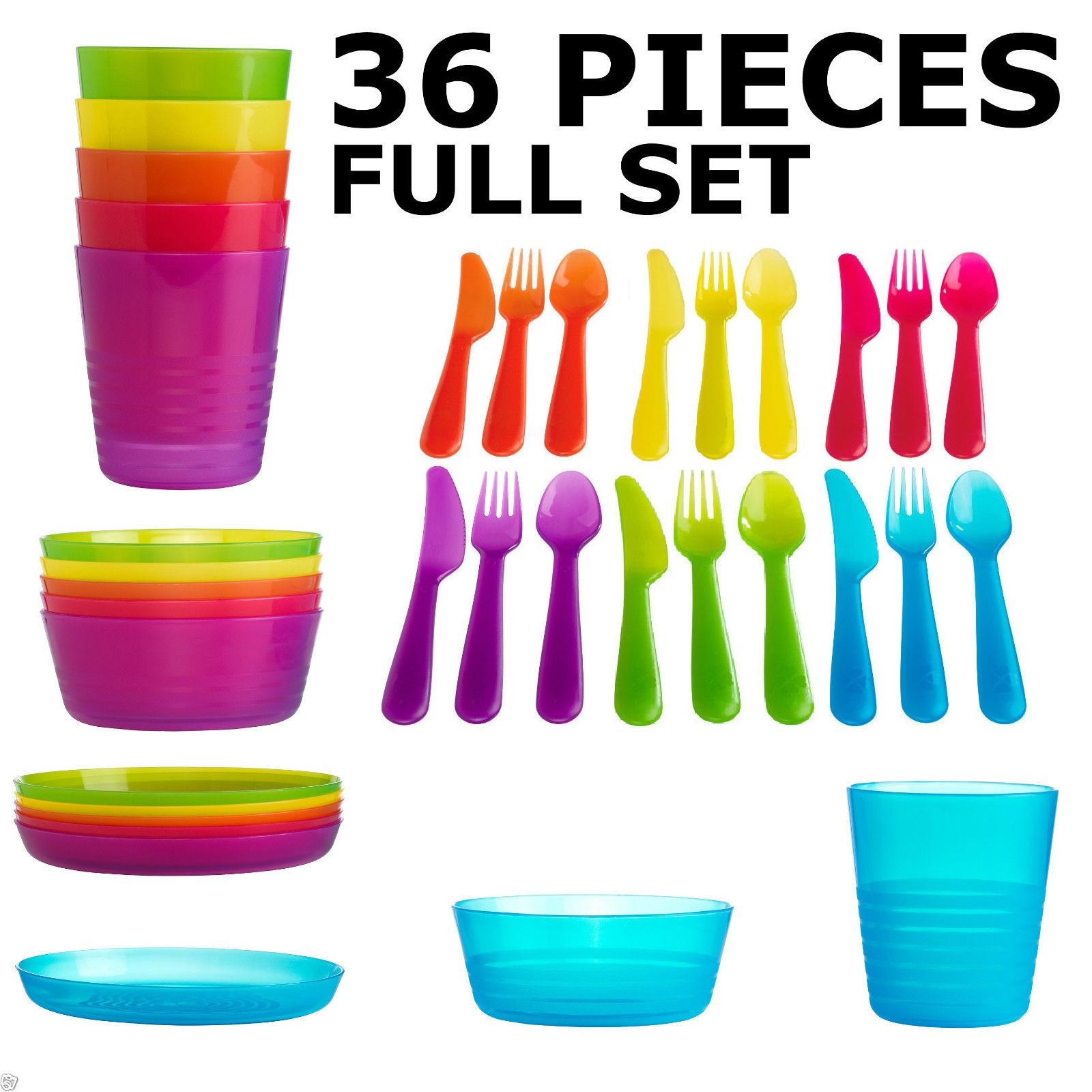 Cutlery clipart plate bowls 36 CHILDREN'S PLASTIC KIDS CUTLERY