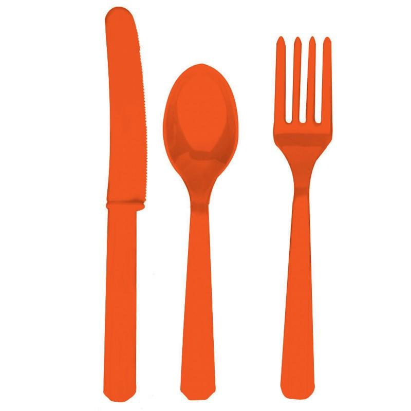 Cutlery clipart red Com Orange Forks Spoons Image