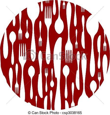 Cutlery clipart red Pattern on Spoon background red