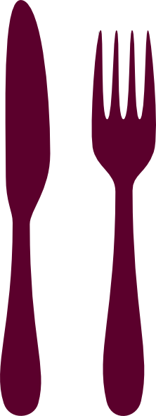Cutlery clipart red Vector clip royalty online art