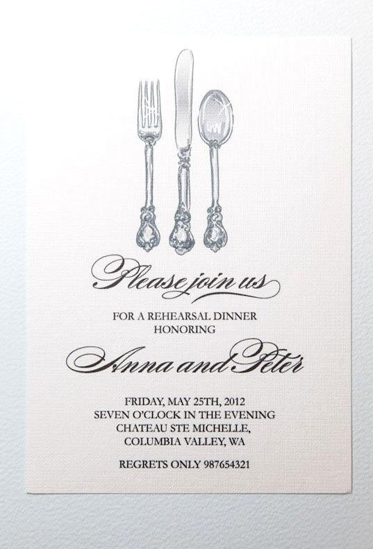 Cutlery clipart rehearsal dinner Clipart dinner invitations clipart invitations