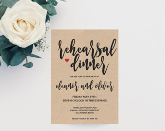 Cutlery clipart rehearsal dinner Wedding Cutlery Printable Boho Invite