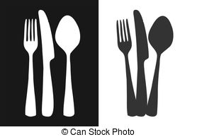Cutlery clipart vector EPS Graphics Cutlery Cutlery art