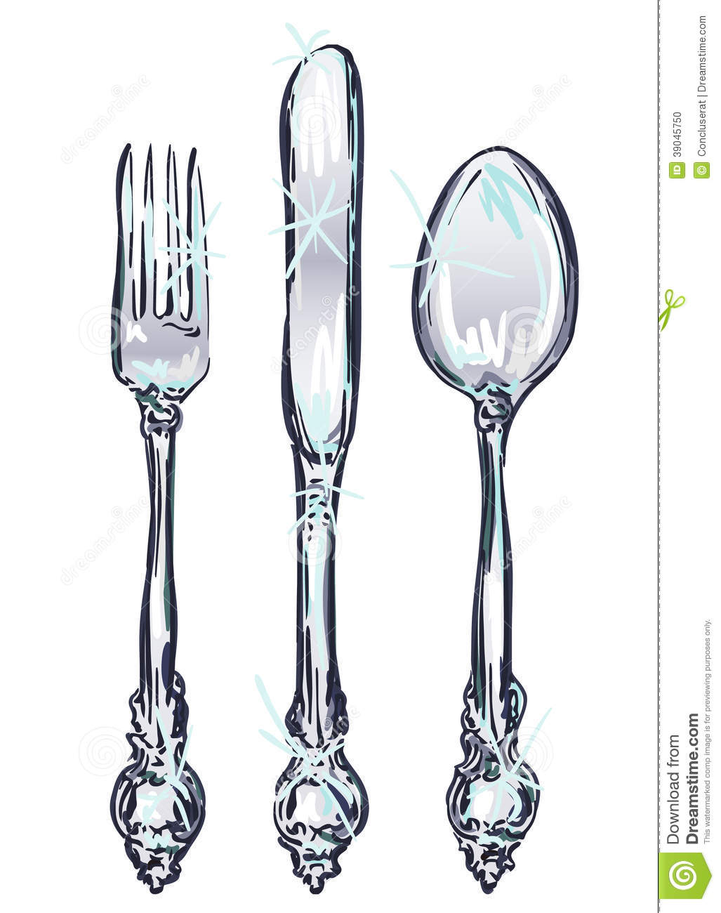 Cutlery clipart vintage Silverware%20clipart Clipart Images Free Clipart
