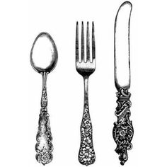 Cutlery clipart vintage Besteck a graphic found in