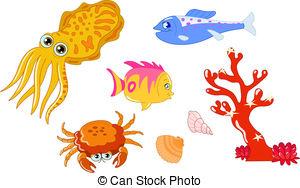 Cuttlefish clipart Art Vector Clipart from royalty