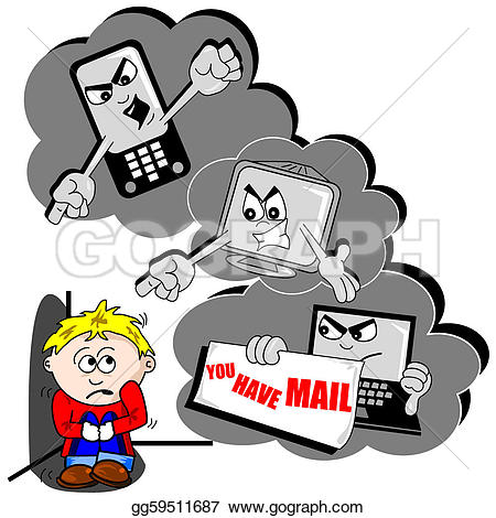 Cyber clipart physical bullying Bullying Clip Cyber GoGraph Art