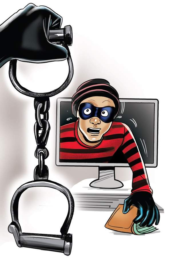 Cyber clipart cyber crime Struck stns The increasing police