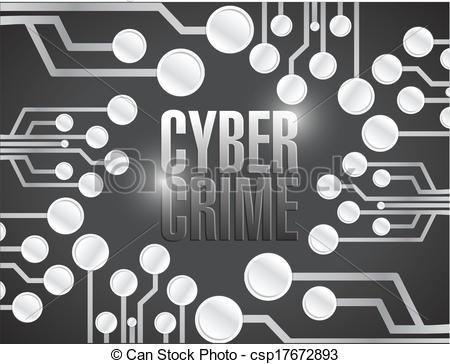 Cyber clipart cyber crime EPS crime Vectors of circuit